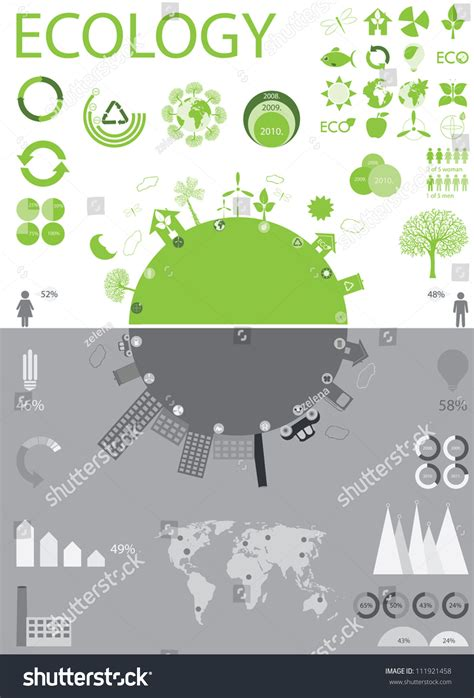 Green Life Vs Pollution Stock Vector 111921458 Shutterstock