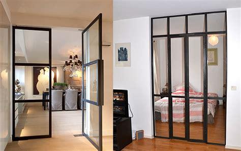 salle de bain dans une chambre la porte verrière steel in box