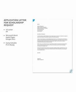 Recommendation Letter Scholarship Free 10 Sample Scholarship Application Letter Templates