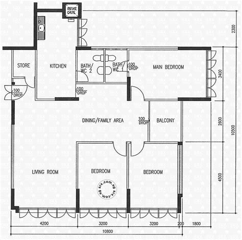 floor plans   ang mo kio avenue   hdb
