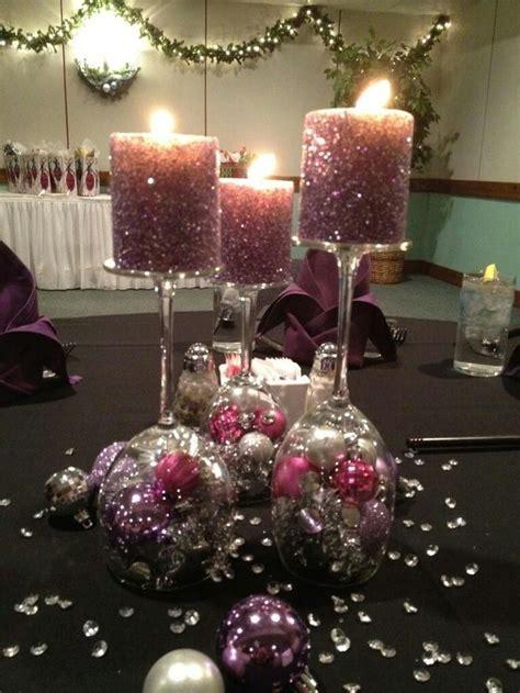 wine glass centerpieces ideas  pinterest