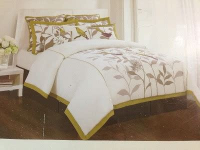 domain hillcrest paradise embroidery bird floral king 6 pc