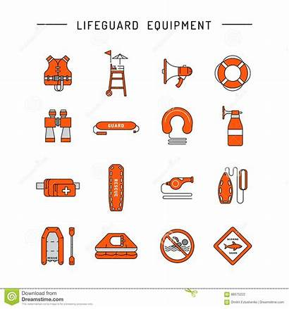 Lifeguard Equipment Rescue Drowning Icon Water