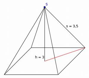 Volumen Einer Pyramide Berechnen : volumen quadratische pyramide mit s h mathelounge ~ Themetempest.com Abrechnung