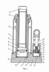 patent us20080048159 double speed hydraulic bottle jack With bottle jack diagram