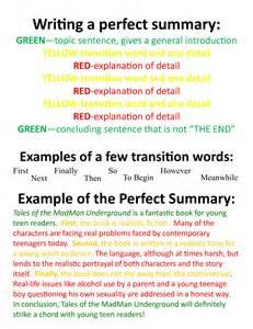 writing a summary nkc bookspace