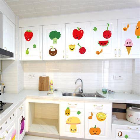 cute cartoon fruits wall art mural decor kitchen wall decoration sticker pvc removable