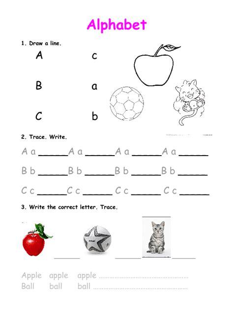 alphabet practice abc