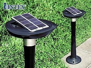 Lumiere Jardin Solaire : lumi re de jardin autonome intex led avec panneau solaire ~ Premium-room.com Idées de Décoration