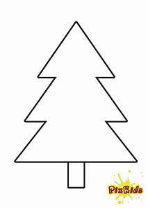 Malvorlage, Tannenbaum, Einfach, Kostenlos