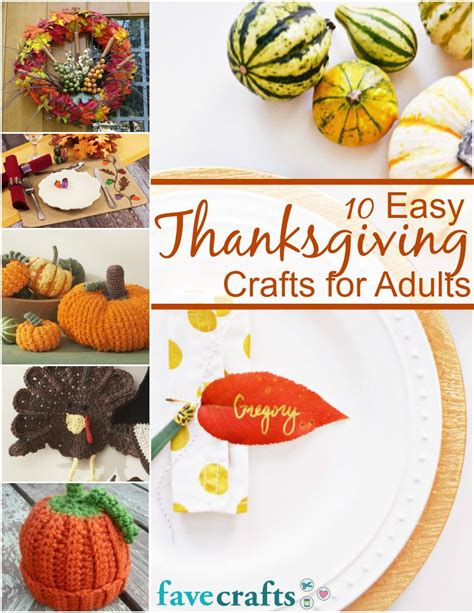 crafts for adults images 10 easy thanksgiving crafts for adults free ebook favecrafts