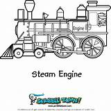 Coloring Steam Engine Trains Train sketch template