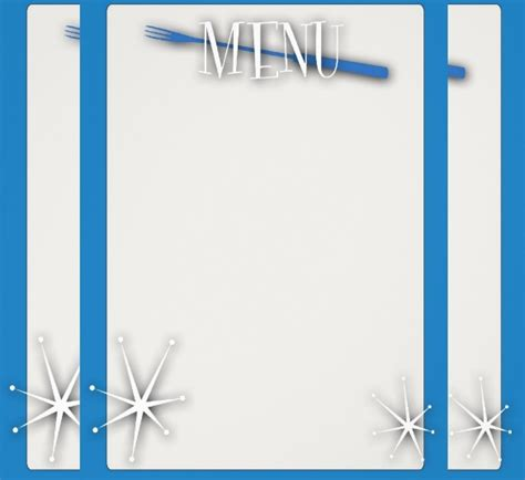 blank menus templates  illustrator ms word