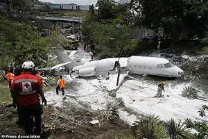Crew and passengers rescued after private jet crashes ...