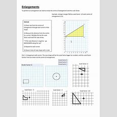 Enlargements, Negative And Fractional Scale Factor By Katedrage  Teaching Resources Tes