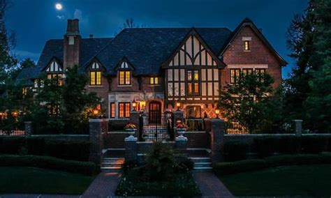square foot brick tudor mansion  denver