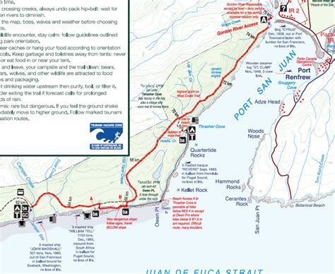 Carte Cote Ouest by West Coast Trail Map