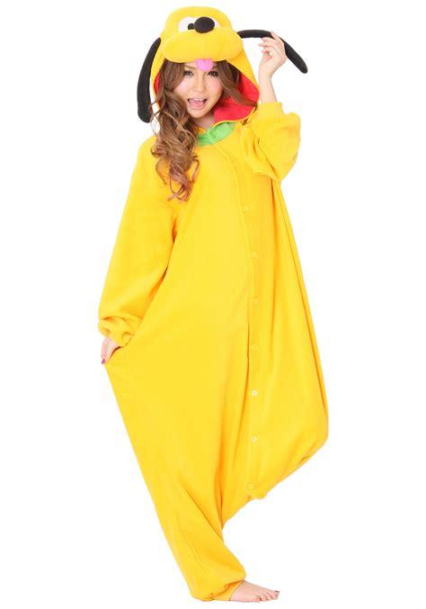 Adult Pluto Pajama Costume - Disney Costumes Dog Costumes
