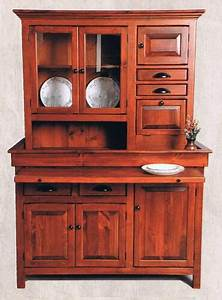 Large Pine Hoosier Cabinet  Usa Made Antique Reproduction