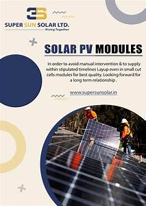 Solar Pv Modules In Order To Avoid Manual Interv Ention