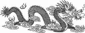 Clipart - Asian Dragon Line Art