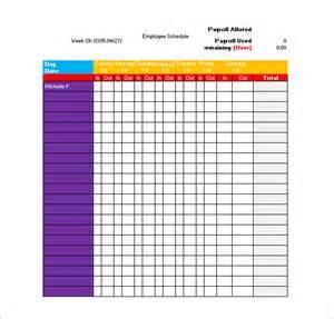 Blank Work Schedule Template Excel