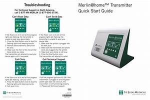 Merlin Home U2122 Transmitter Quick Start Guide