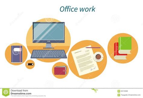 Office And Business Icon Design Royalty-free Cartoon