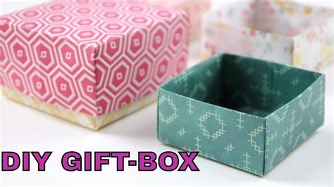 easy craft gift ideas diy gift box paper crafts tutorial gift box easy 4339