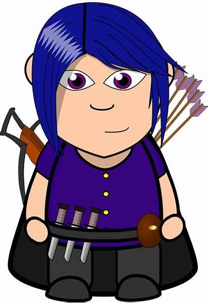 Clipart Domain Vector Rogue Chibi Archer Cartoon