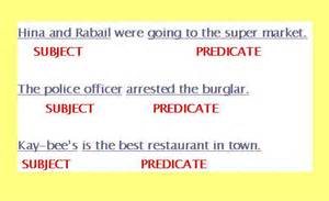 Complete Subject and Predicate Example Sentences