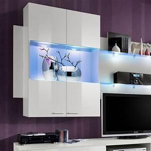 Meuble Design Tv Mural : meuble tv mural design space 300cm blanc ~ Teatrodelosmanantiales.com Idées de Décoration