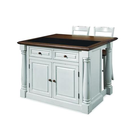granite top kitchen island with seating home styles monarch white kitchen island with seating