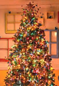 shiny tree decorations with gold hanging ornaments combined sparkling