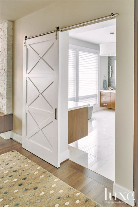 Modern Bathroom Door Ideas by Modern White Master Bath Door Home Decor