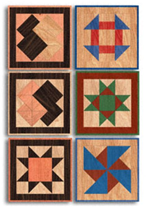 scroll  wall art small quilt squares wood pattern