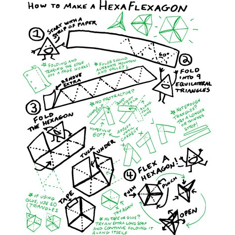 Hexaflexagon Template Hexaflexagon Template Templates