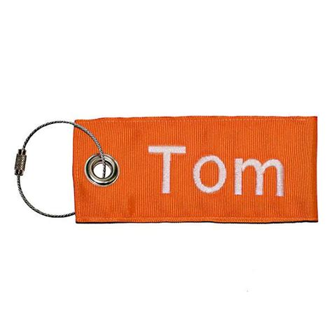 Stainless Steel Cable Loop Luggage Tag  Custom Name