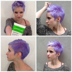 princess haircut pixie cut fohawk with light lavender coloring 5819