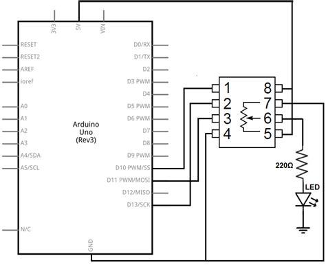 How Build Digital Potentiometer Circuit With Mcp