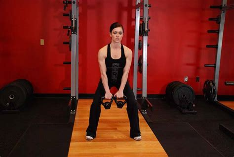 clean double kettlebell hang alternating exercises exercise