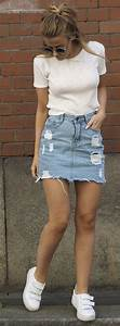 The 25+ best ideas about Denim Skirt Outfits on Pinterest ...
