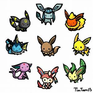 Chibi Eeveelutions animated by TimTam13 on DeviantArt