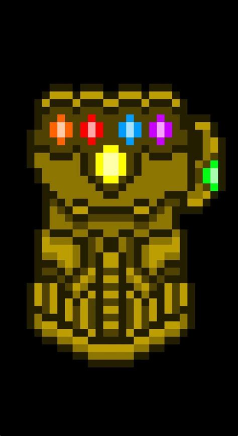 minecraft infinity gauntlet google search anime pixel