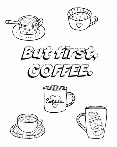 Coffee Coloring Pages Adult Cup Hope Better
