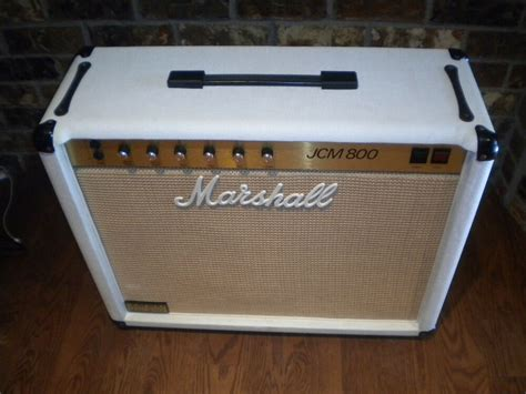 1983 White Marshall 50w Jcm 800 Tube Guitar Amplifier