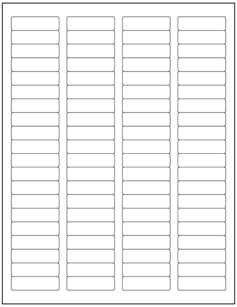 avery label template 5167 20000 laser ink jet labels 80up 1 75 x 5 compatible w size 5167 250 sheets ebay