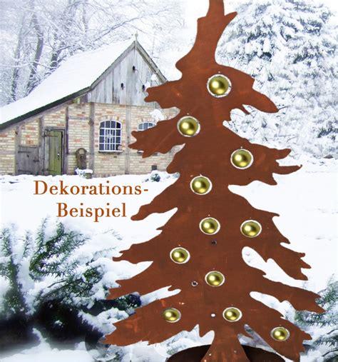 Deko Christbaum Metall by Weihnachtsbaum Tanne Edelrost Deko Christbaum