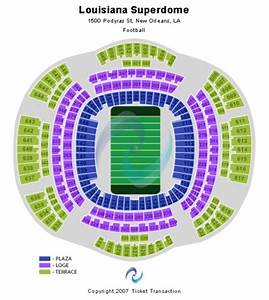 Mercedes Benz Superdome Tickets Seating Charts And
