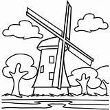 Windmills Coloringhome sketch template